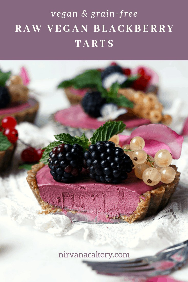 Raw Vegan Blackberry Tarts (grain-free)