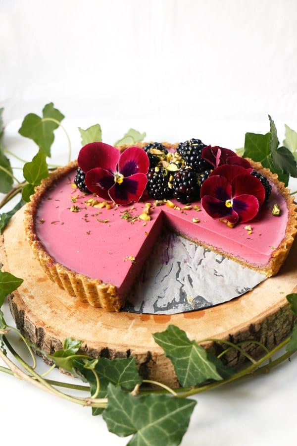 Pistachio Blackberry Tart (vegan & grain-free)