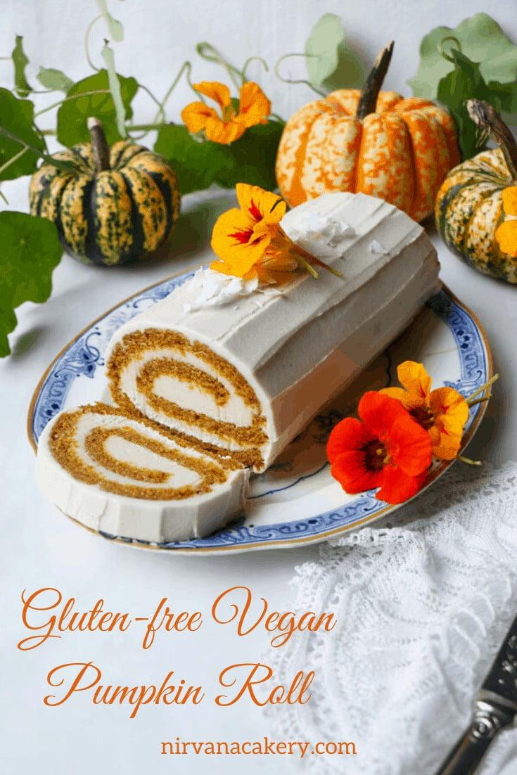 Gluten-free Vegan Pumpkin Roll