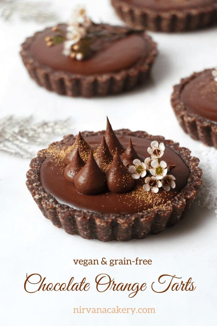 Vegan Chocolate Orange Tarts