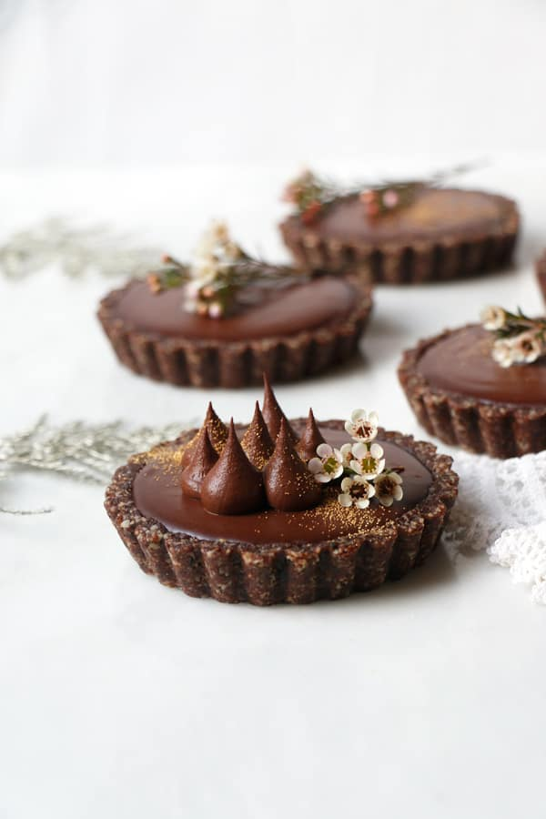 Chocolate Orange Tarts (vegan & grain-free)