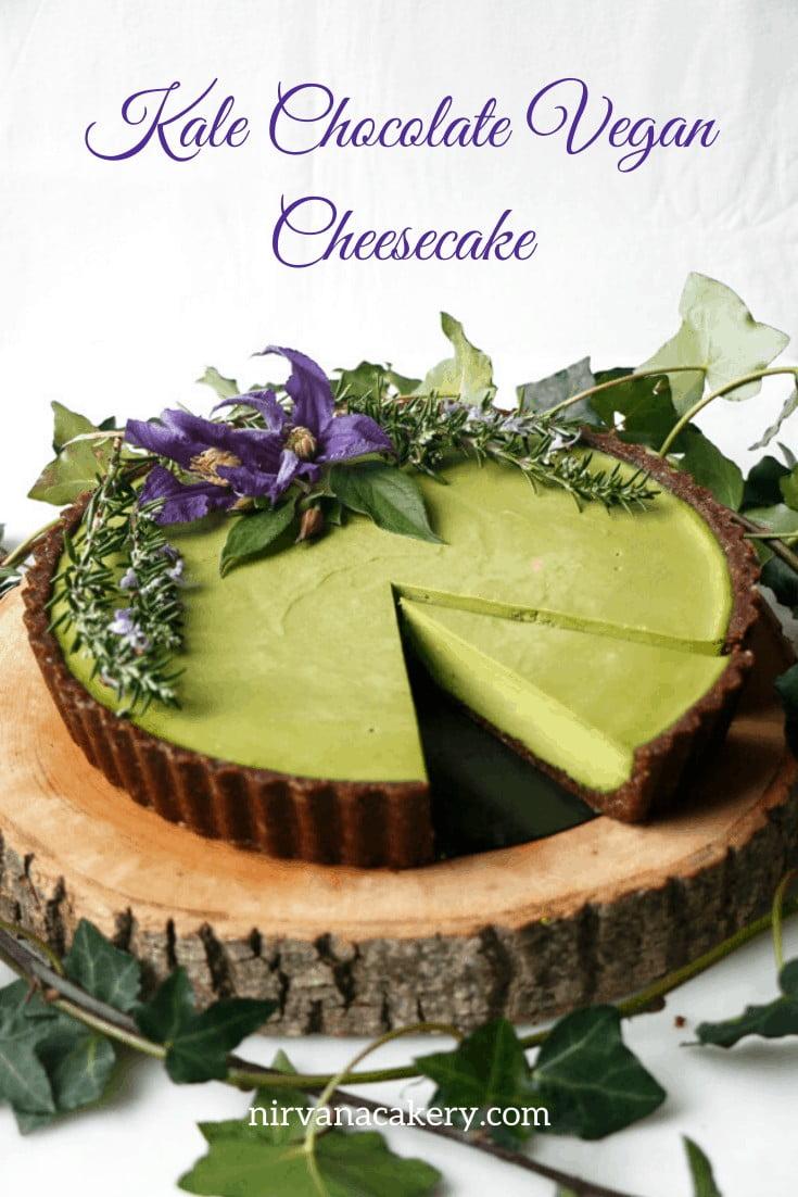 Kale Chocolate Vegan Cheesecake