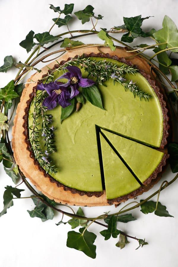 Kale Chocolate Vegan Cheesecake (grain-free)