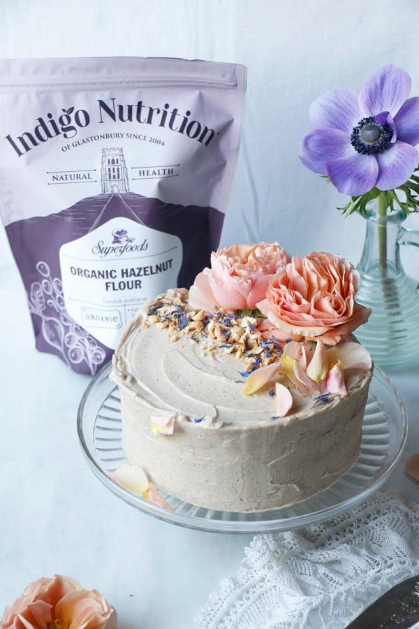 Hazelnut Layer Cake (vegan & gluten-free)