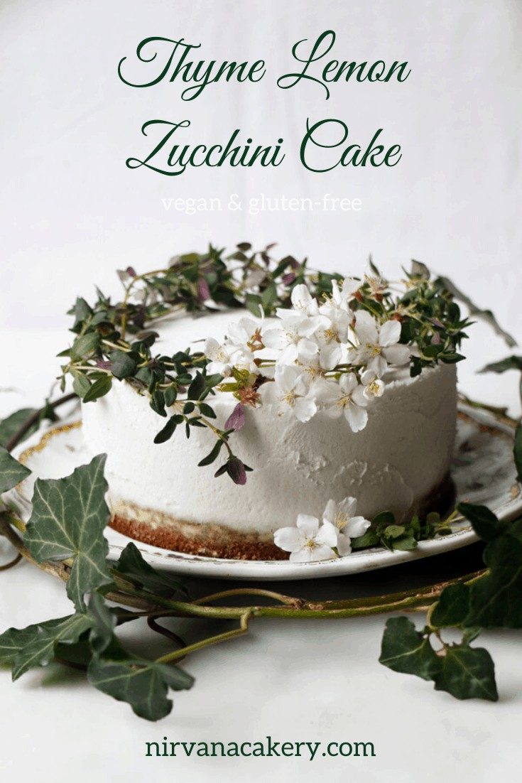 Thyme Lemon Zucchini Cake