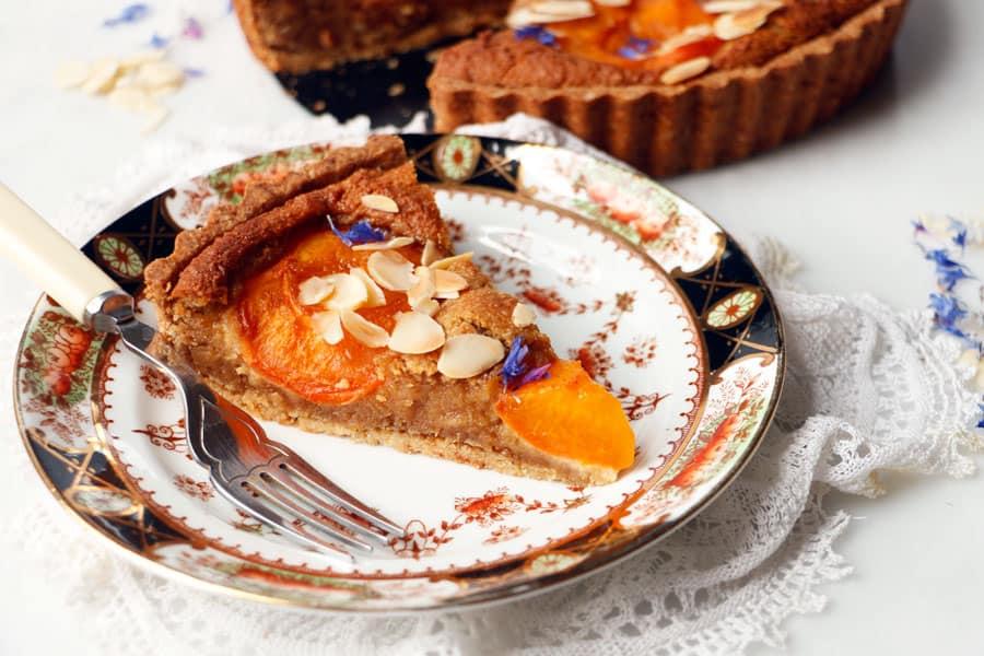 Apricot Frangipane Tart (vegan & grain-free)