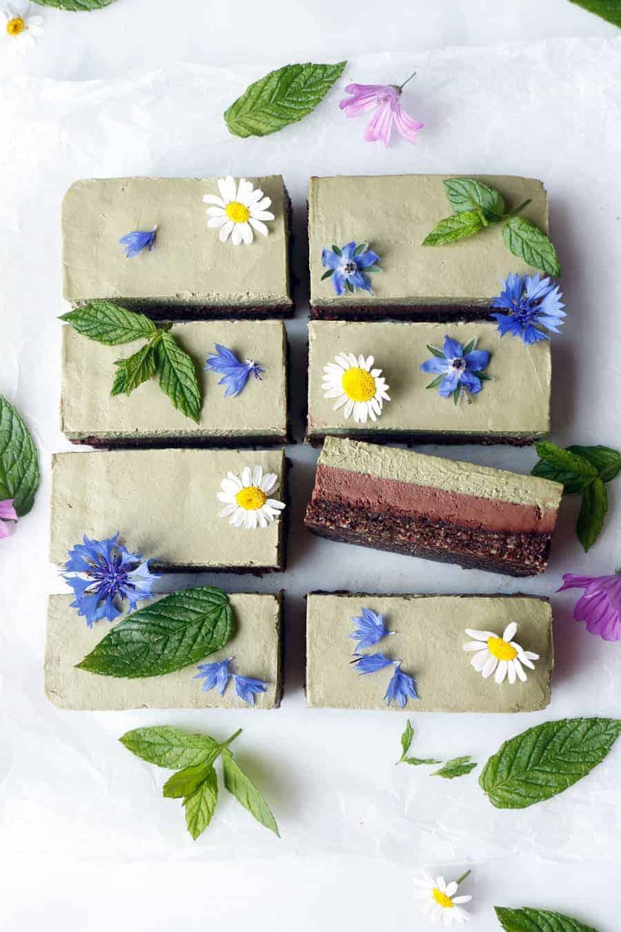 Chocolate Mint Cheesecake (raw, vegan & grain-free)