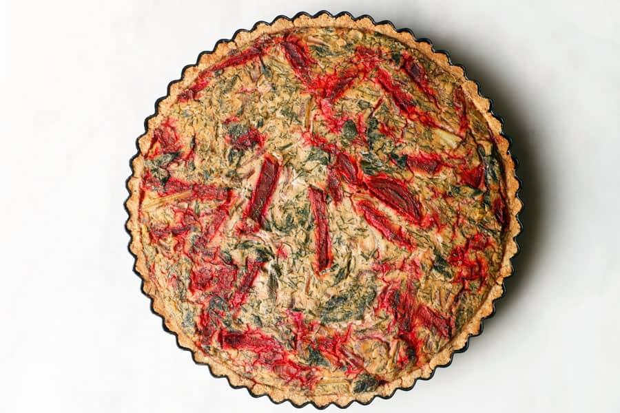Beetroot Chard Vegan Quiche (gluten-free)