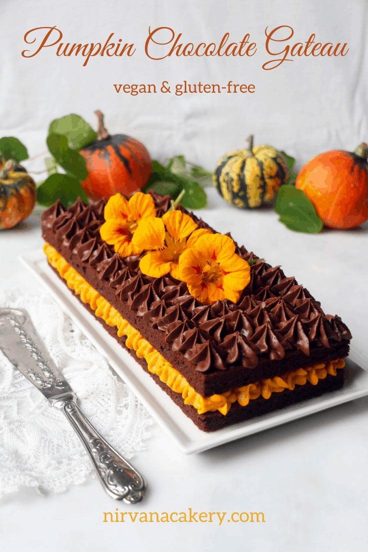 Pumpkin Chocolate Gateau
