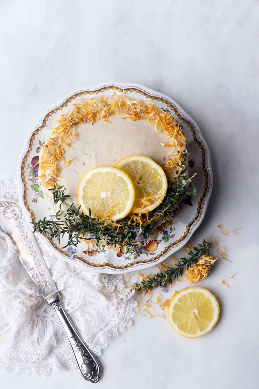 Rosemary Lemon Imbolc Cake (vegan & gluten-free)