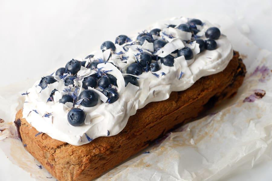 Blueberry Banana Bread (vegan & gluten-free)